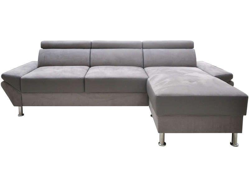 d7e16653f2f Canapé d angle fixe 4 places JOEY pas cher coloris gris prix promo Canapé  Conforama 399.00 €