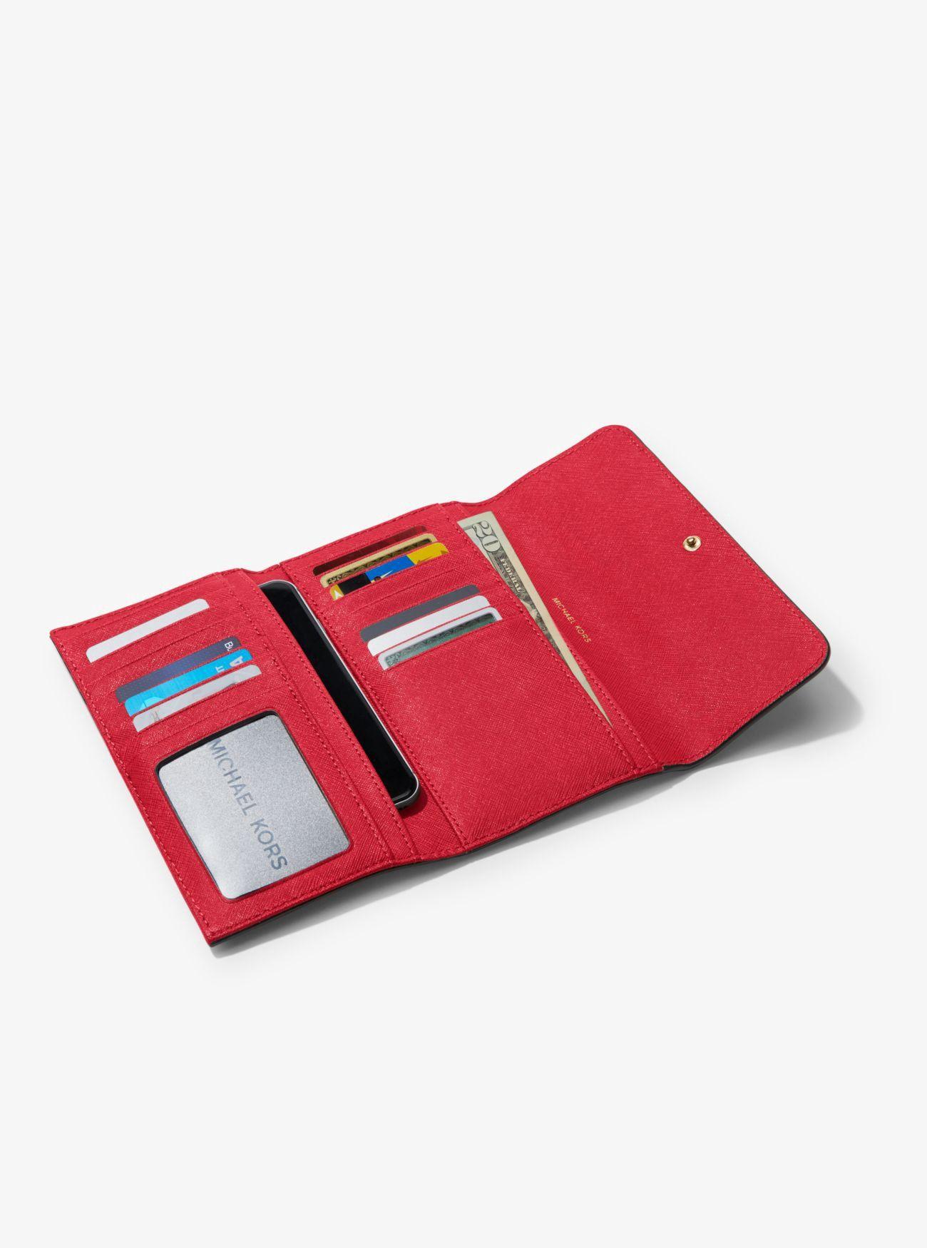 b284b932b9baf MICHAEL KORS Mercer Tri-Fold Leather Wallet.  michaelkors  all ...