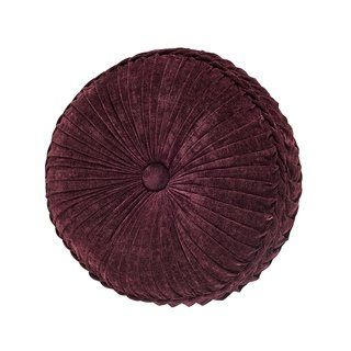 Five Queens Court Button-Tufted Round Decorative Throw Pillow Collection