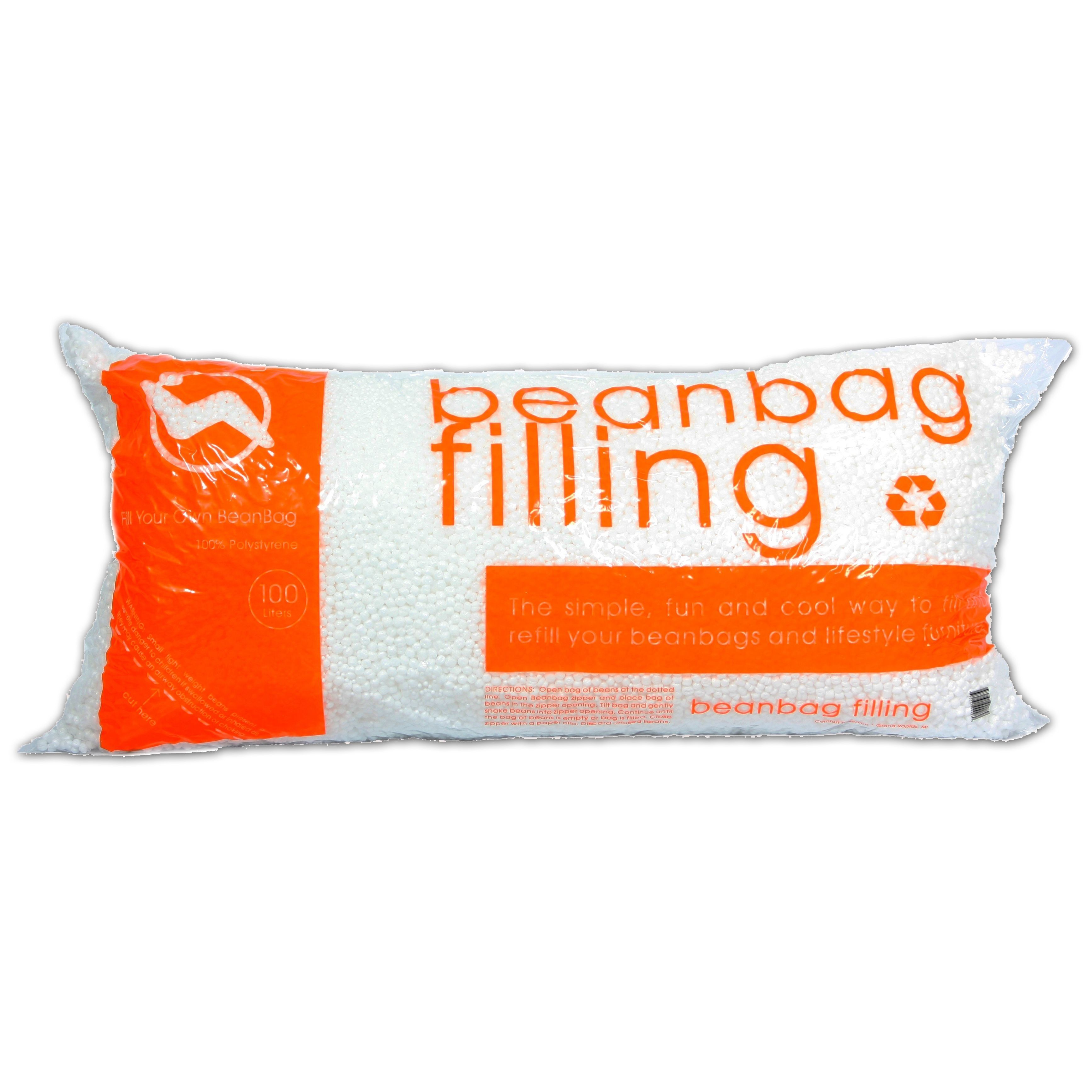 This polystyrene beanbag refill is perfect to add more