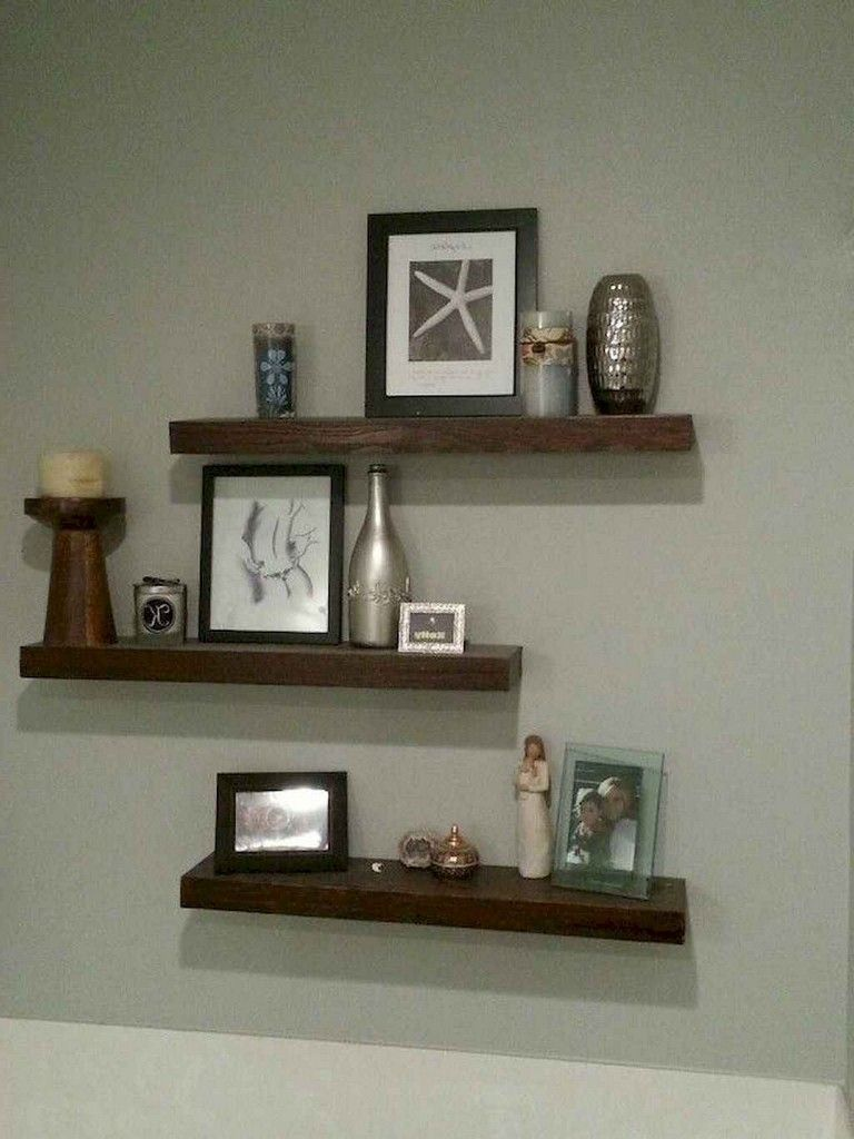 75 Smart Diy Floating Shelves For Living Room Decorating Ideas Shelvesdecor Livingroom Floating Shelves Diy Floating Shelves Bedroom Rustic Floating Shelves