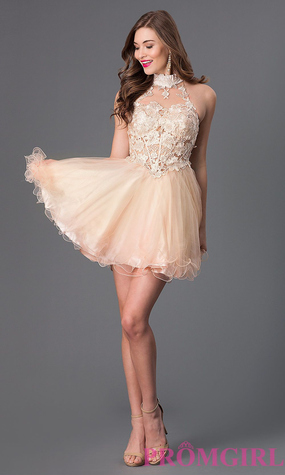 Short prom dress style dj detail image grace elizabeth