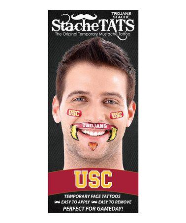 Love this USC Trojans Mustache Tattoo Set!!! Haha!!!   USC ...