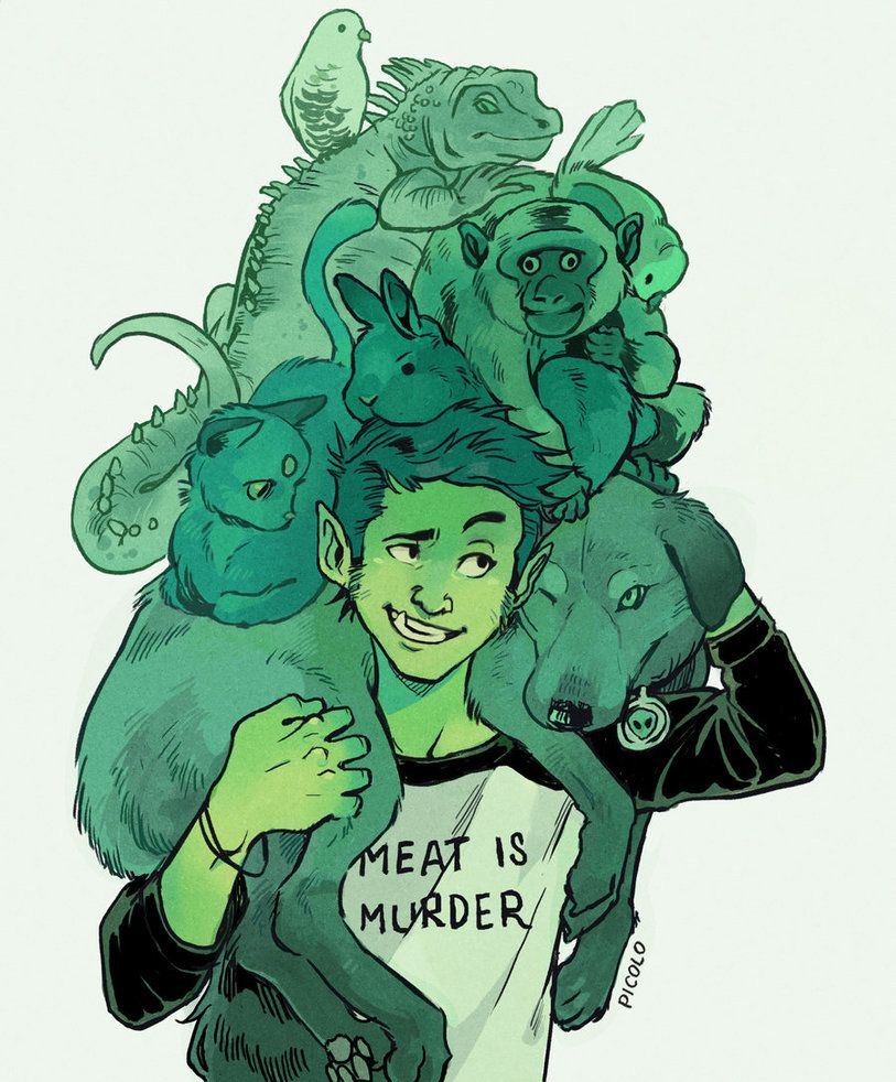 Beast Boy And Pets By Picolo-Kundeviantartcom On -2074