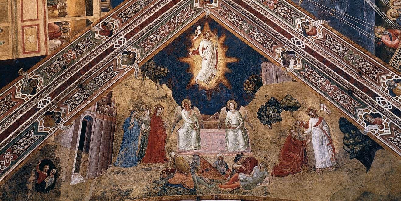 ANDREA DA FIRENZE Resurrection (north vault cell) 1366-67 Fresco Cappellone degli Spagnoli, Santa Maria Novella, Florence