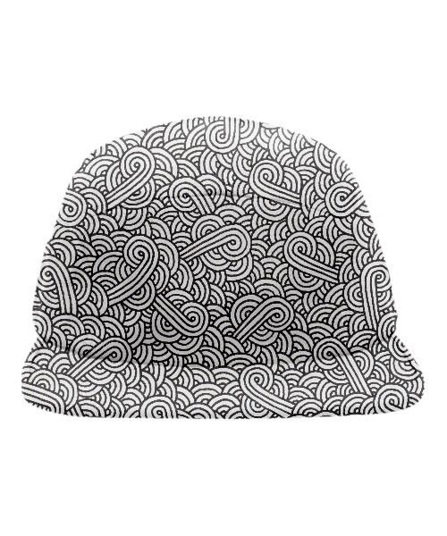 Black and white swirls doodles Baseball Hat by @savousepate on @printalloverme