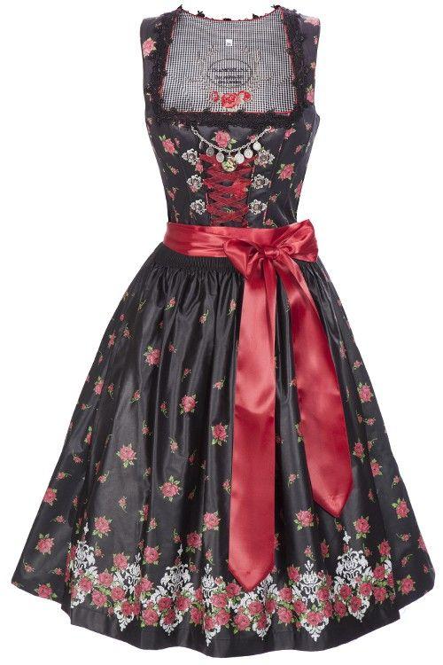 tramontana dirndl rosen dierdel tracht pinterest dirndl dirndl schwarz rot und rockabilly. Black Bedroom Furniture Sets. Home Design Ideas