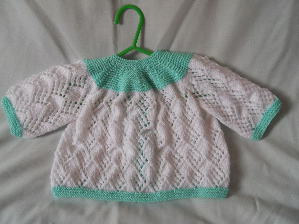 dea524d0c Hand Knitted Baby Matinee Coat   Hat Set