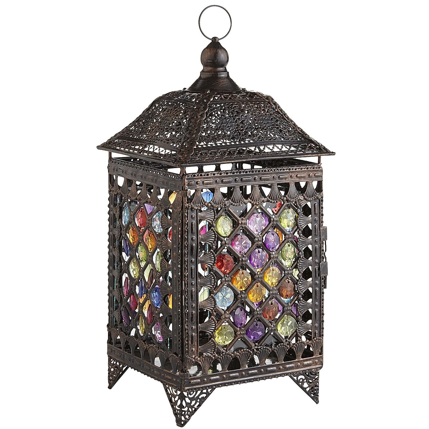 Multi Colored Caravan Gem Lanterns  Multi  Glass