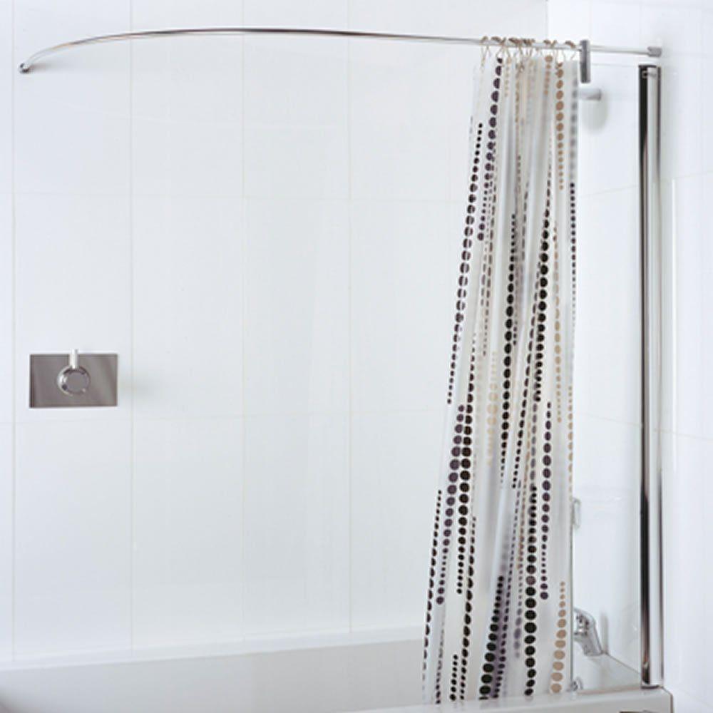 90 Degree Shower Curtain Rail In 2020 Shower Curtain Track