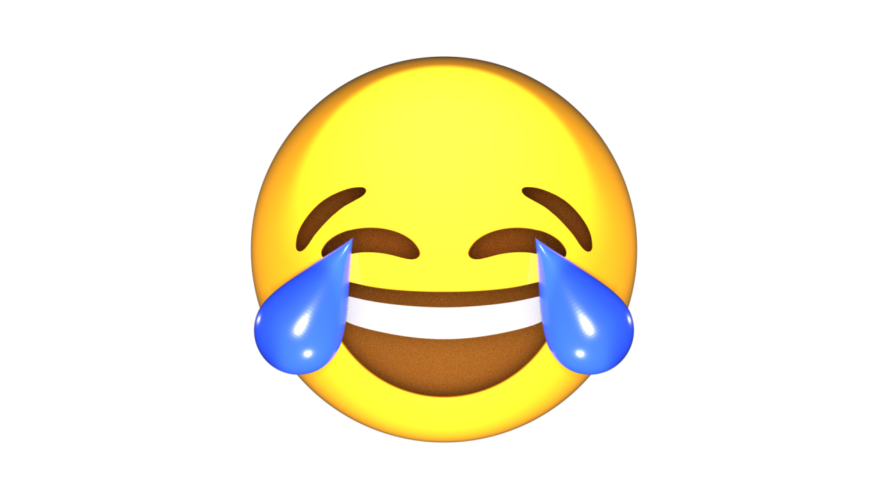 Картинка эмоджи смеется