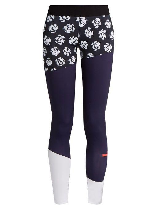 f2b943fb4b26 ADIDAS BY STELLA MCCARTNEY Floral-print performance leggings.   adidasbystellamccartney  cloth  leggings