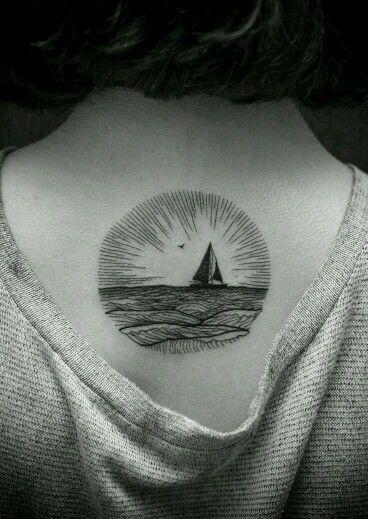 Love upper back tattoos