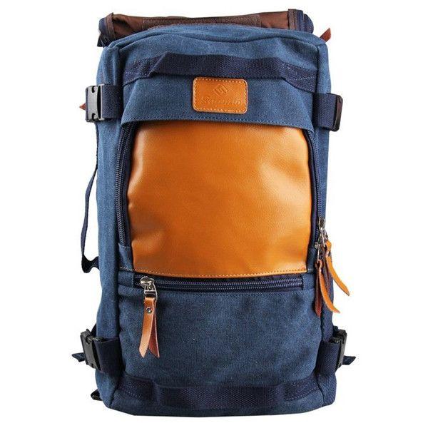 Blue Tan Leather Backpack Jpg 600 600 Vegan Leather Backpack Leather Leather Backpack