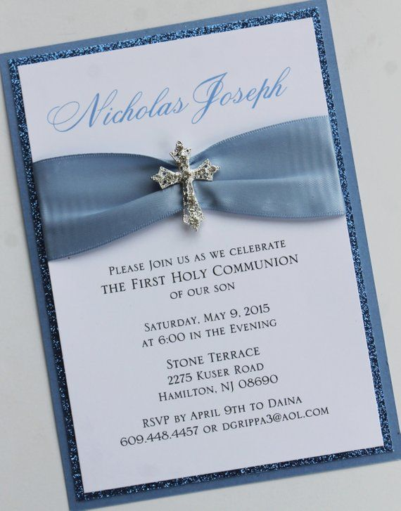 Blue invitation with vintage sparkling