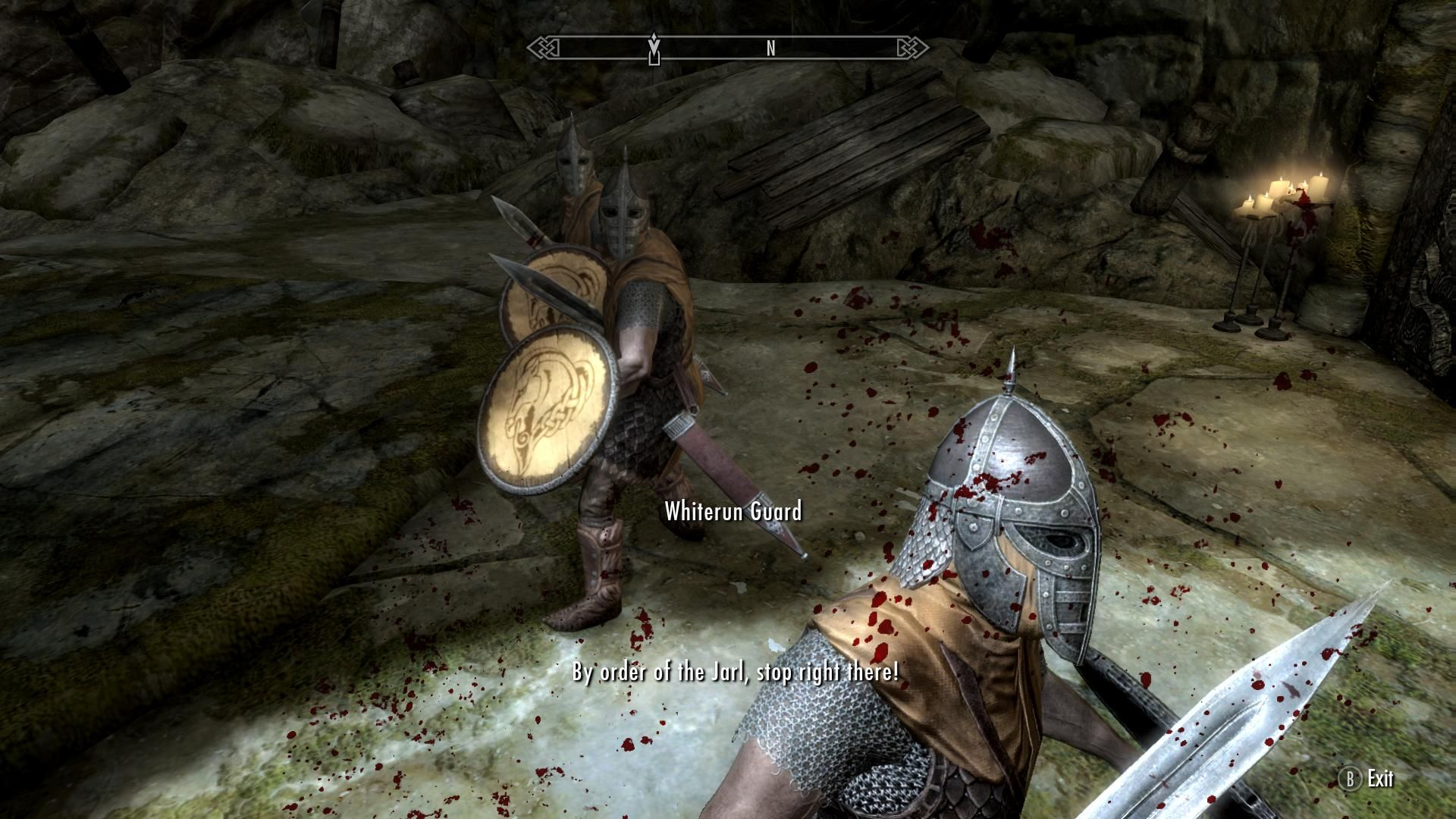 These guards chased me all the way to Bleak Falls Barrow #games