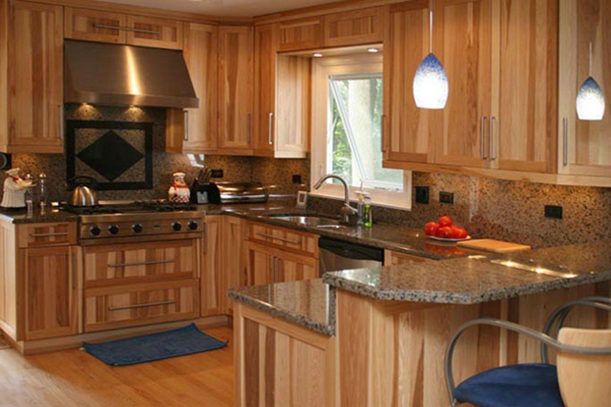 hickory kitchen cabinets color ideas — the decoras