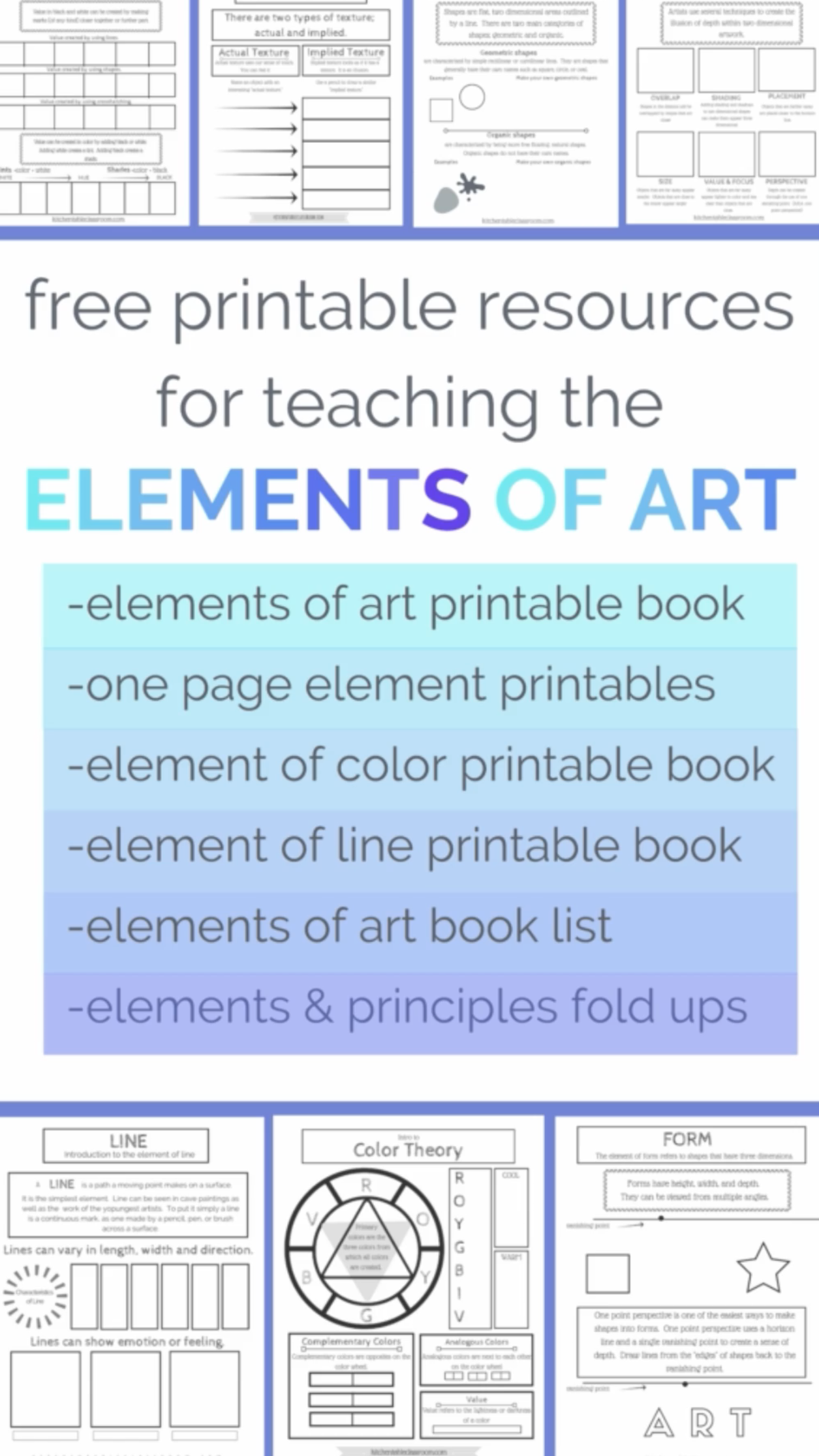 Use These Free Printable Elements Of Art Worksheets To