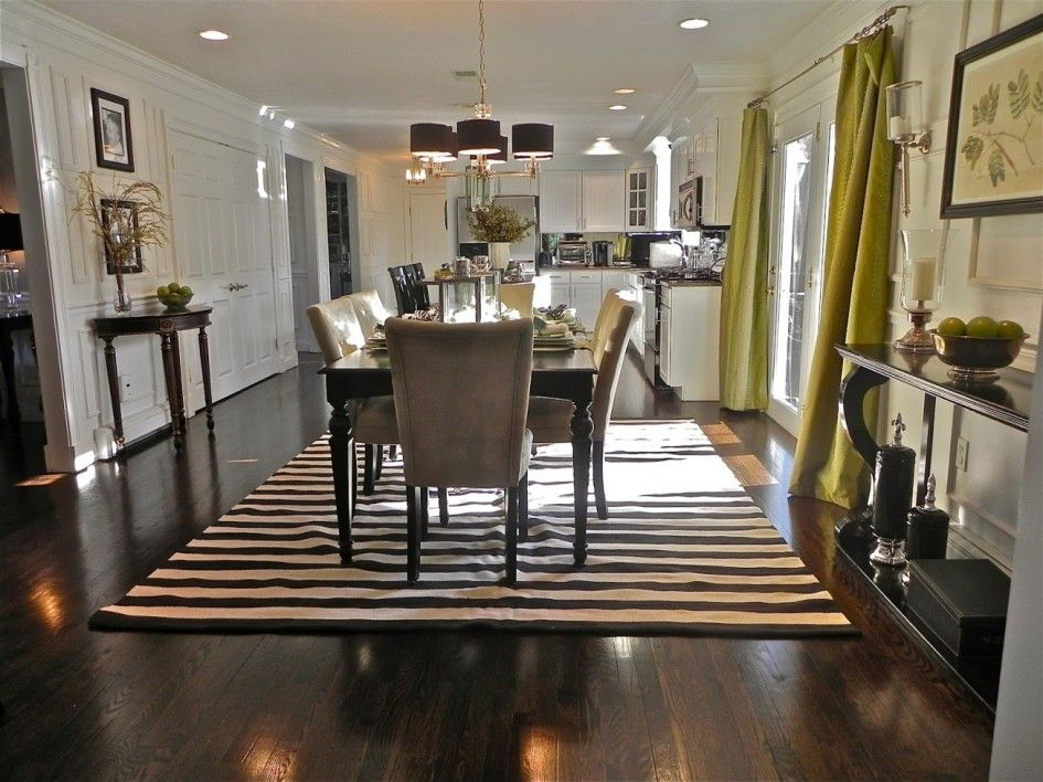 Area Rug For Fresh Dining Room Inspiration Black And White