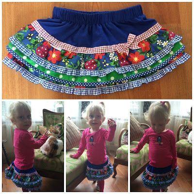 little girls skirt, free pattern stroken rok voor meisjes