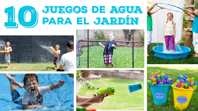 10 juegos de agua para el jard n para ni os diy 2 years pinterest bricolaje for Juegos para nios jardin de infantes