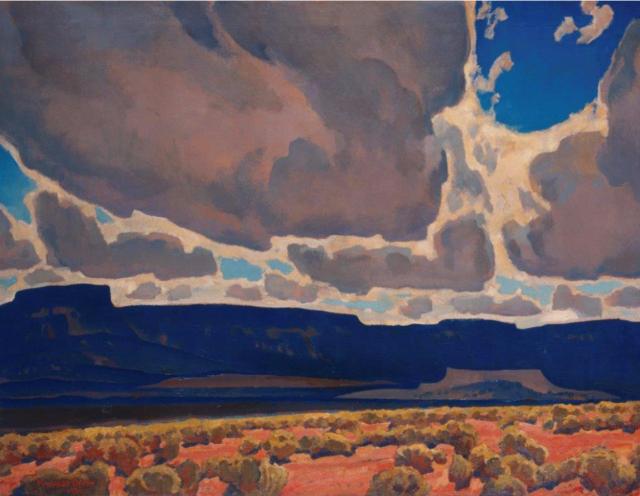 Mesas in Shadow - Maynard Dixon , 1926 American, 1875-1946