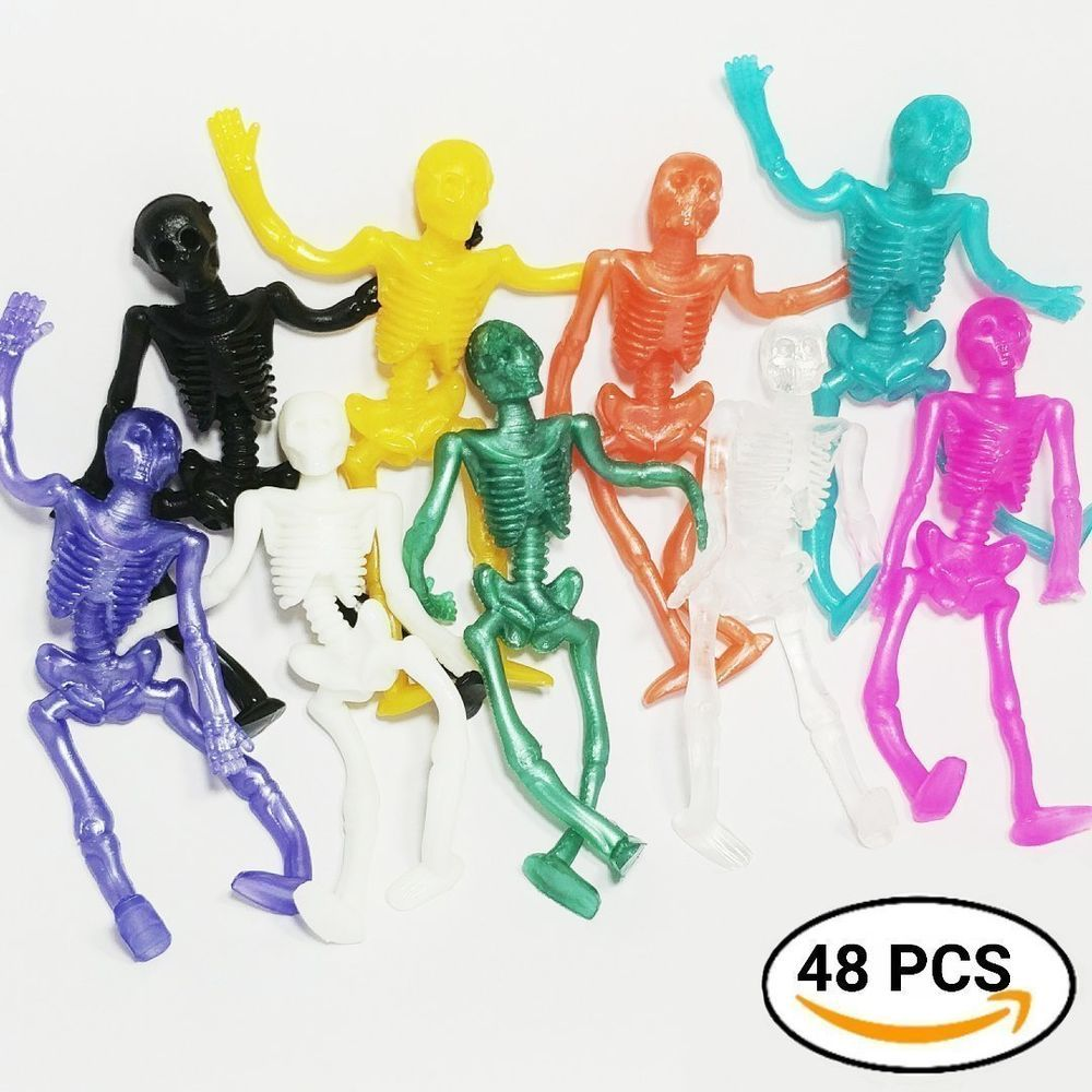 STRETCHY SKELETON Birthday Party Loot Bag Children/'s Toys Kids Stocking Fillers