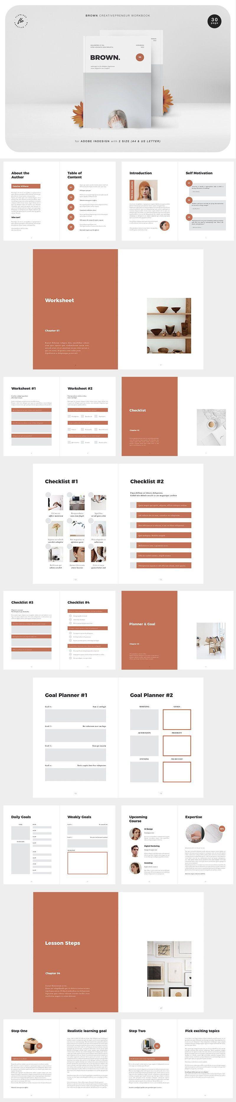 BROWN Creativepreneur Workbook Indesign