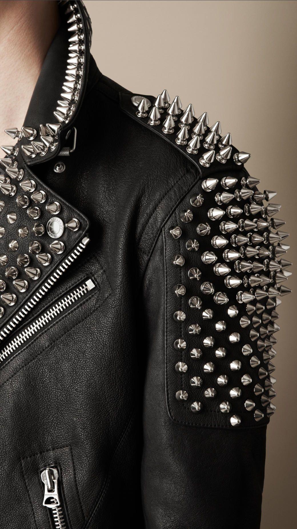 Multi Stud Biker Jacket Studded Leather Jacket Fashion Jackets Men Fashion [ 1849 x 1040 Pixel ]