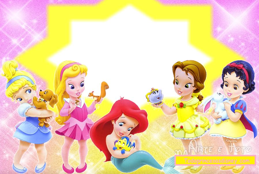 Disney Baby Princess Free Invitations Cards Or Photo Frames