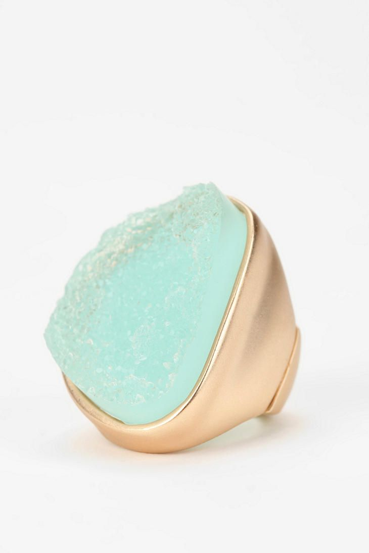 Sea Foam Crystal Ring  #UrbanOutfitters