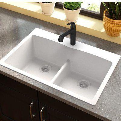 Quarza 33 L X 22 W Dual Mount Kitchen Sink Drop In Kitchen Sink Top Mount Kitchen Sink Sink