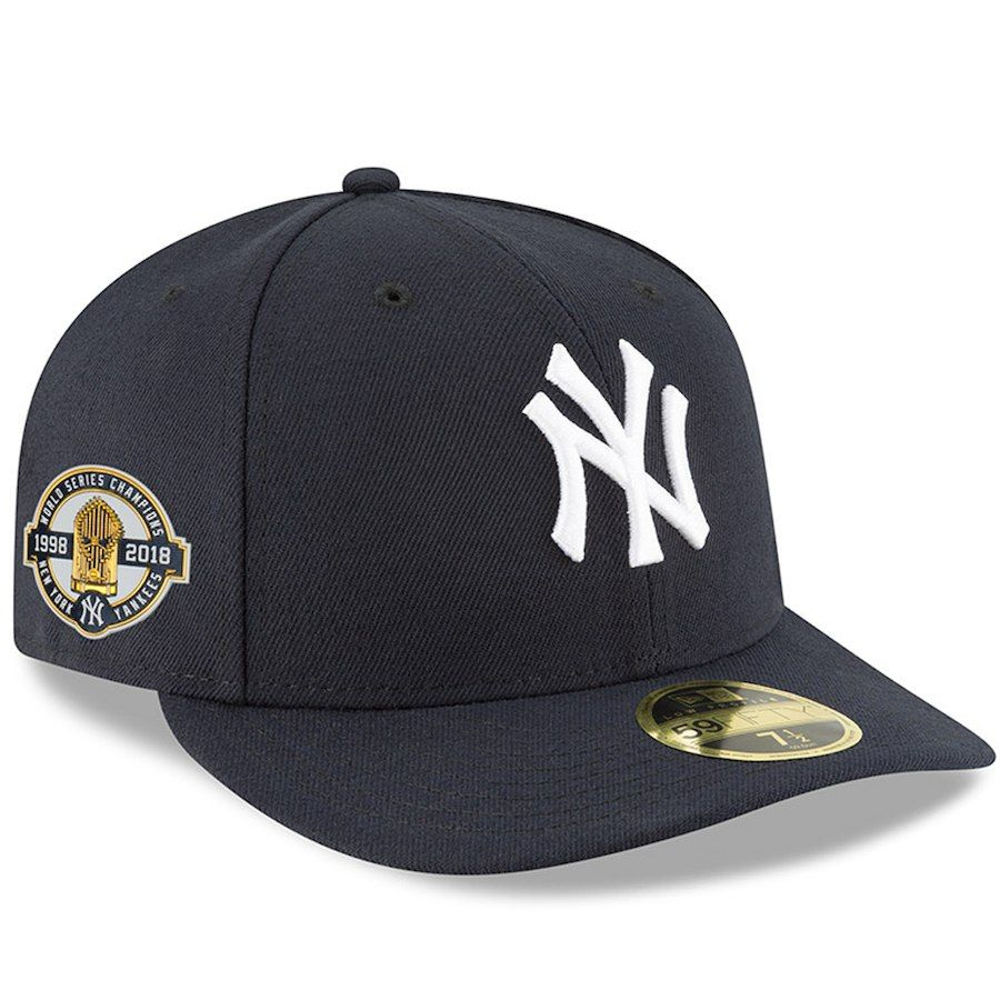 Men S New York Yankees New Era Navy 1998 World Series Champions 20th Anniversary Side Patch 59fifty Low Profile Fitte New York Yankees Yankees News Fitted Hats