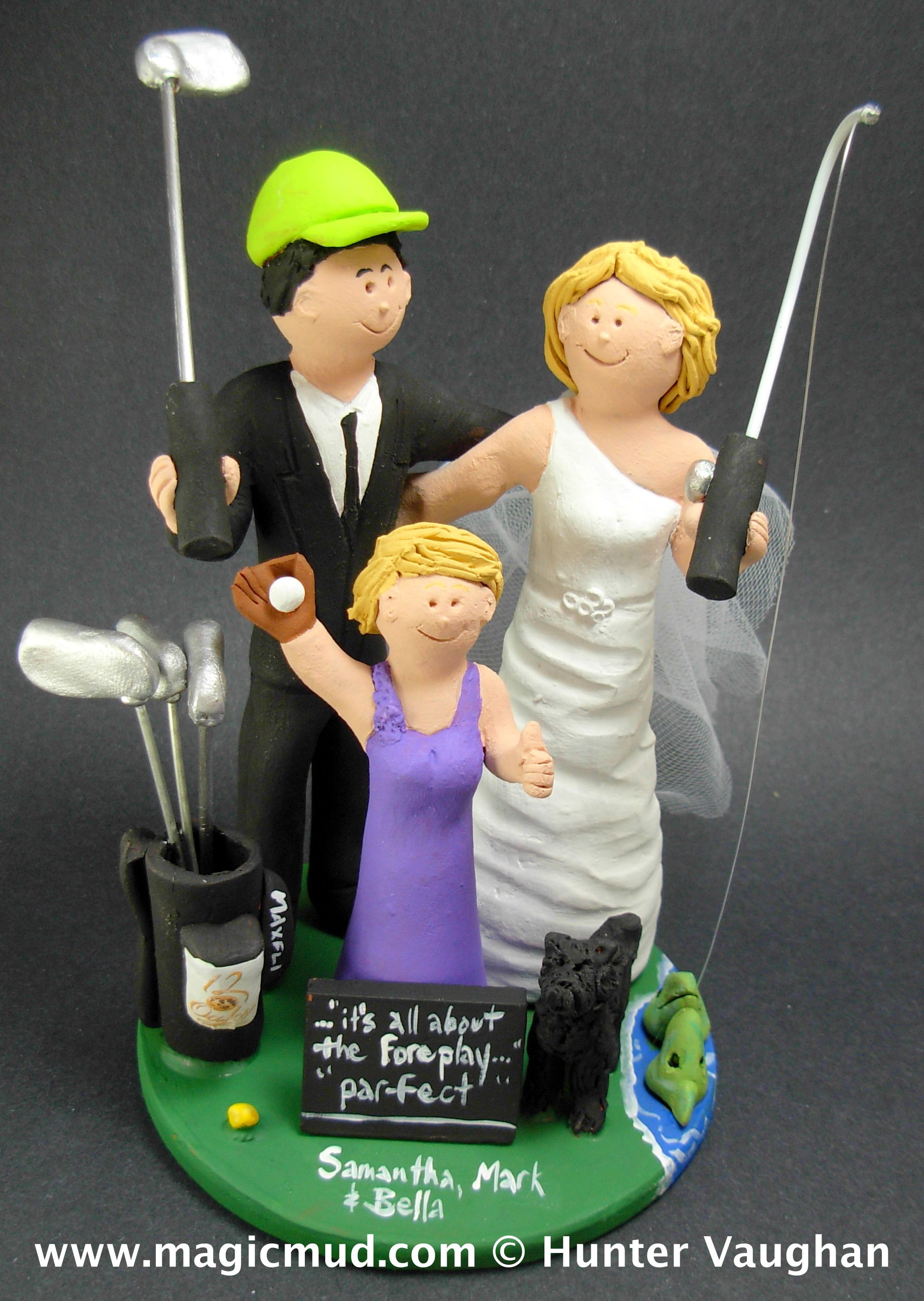 Daughter with Bride and Groom Wedding Cake Topper 1 800 231 9814