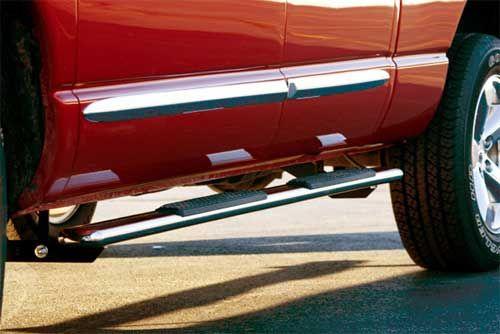 Dodge Nitro Accessory - TrailFX Dodge Nitro 4.5 Polished Stainless Steel Oval Tube Side Steps