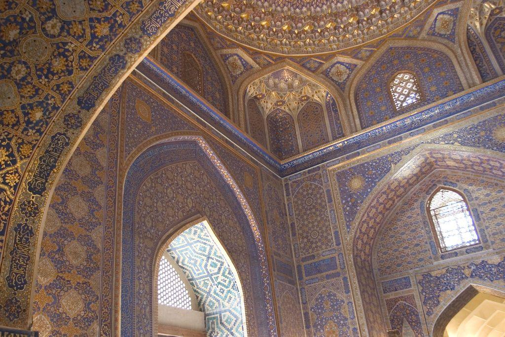 Ceiling in The Registan in Samarkand