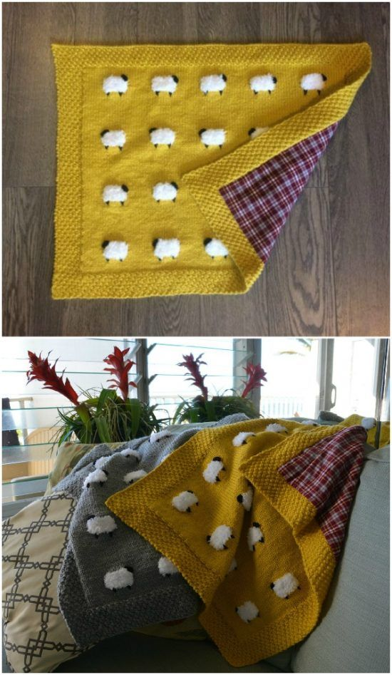 Photo of Knitted Sheep Baby Blanket Pattern | The WHOot