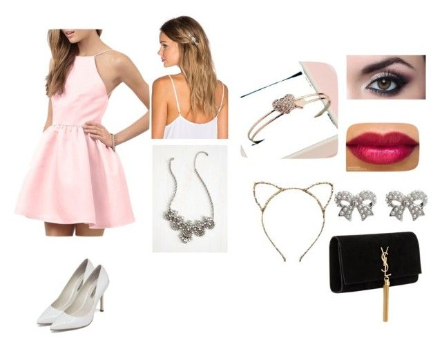 """""""❤"""" by regeamyre on Polyvore featuring BCBGeneration, M&Co, Topshop, Lelet NY and Yves Saint Laurent"""