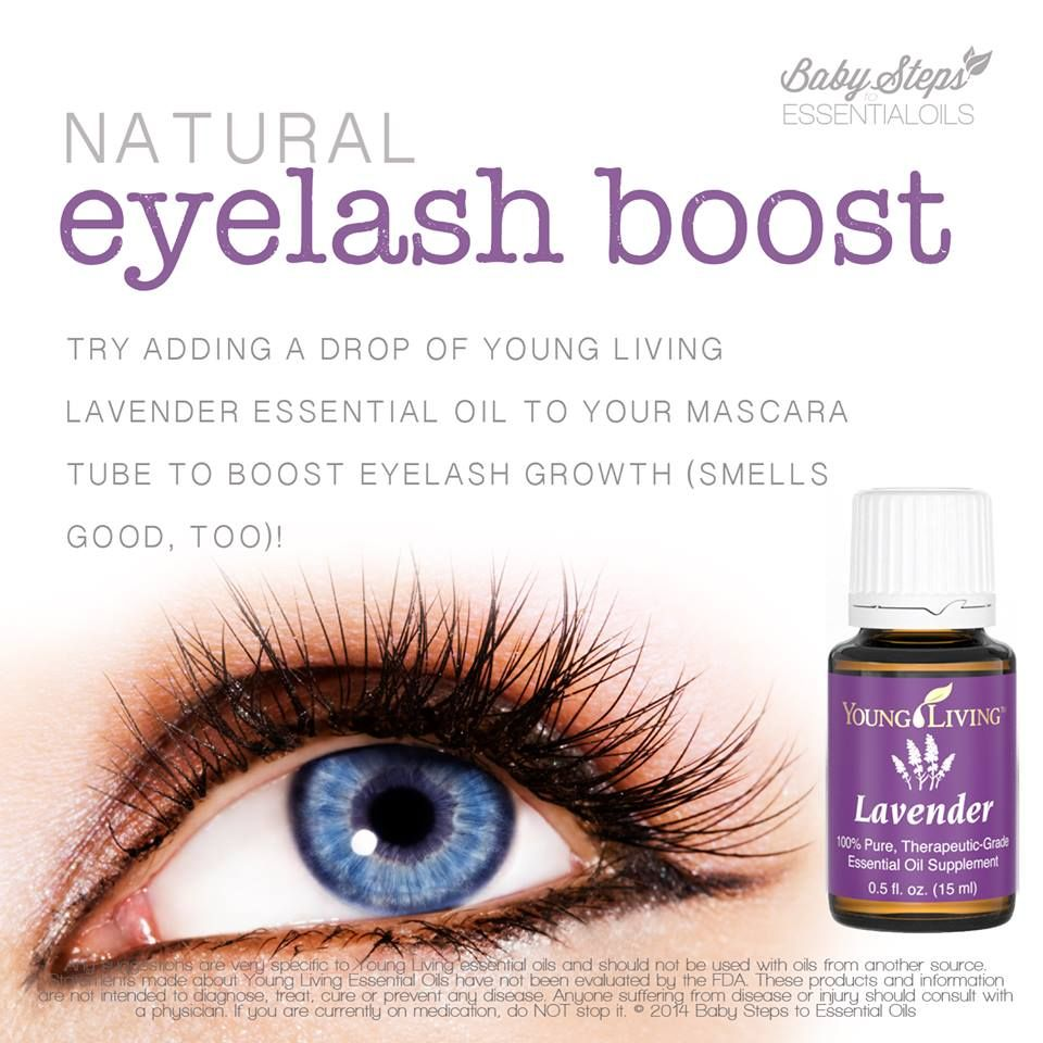 Natural Eyelash Boost Using Young Living Lavender Essential Oil