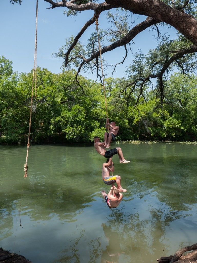 Rope Swing At Christoval Texas Swimming Holes