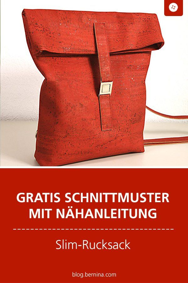 Slimrucksack aus Korkleder - ein Videotutorial » BERNINA Blog #freebookschnittmuster