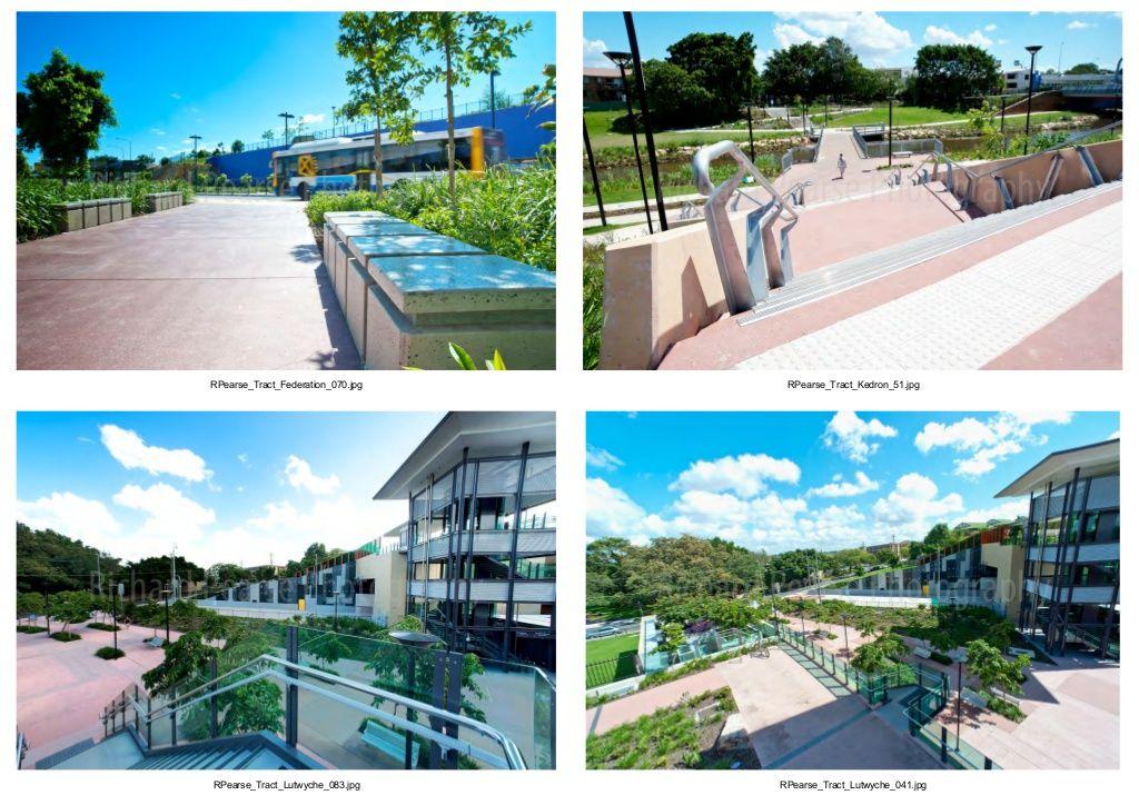 Bus Rapid Transit Design, Northern Busway Brisbane, AUSTRALIA. Photos courtesy Tract Pty Ltd