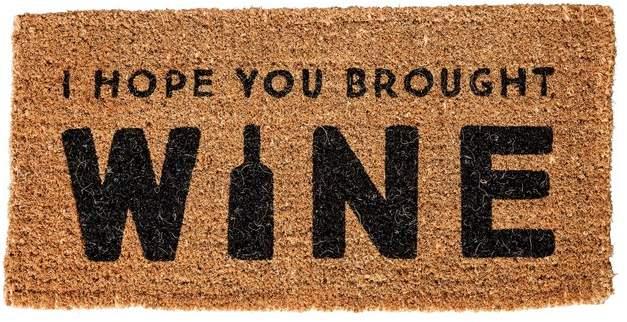 Anjenette I Hope You Brought Wine Natural Coir 32 In X 16 In Outdoor Door Mat Joss Main In 2020 Door Mat Coir Doormat Contemporary Door Mats