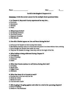 chapter 8 summary of to kill a mockingbird