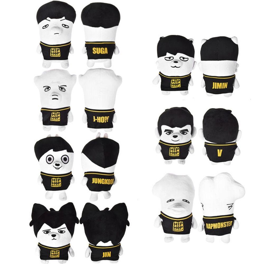 Kpop Bts Plush Doll Bangtan Boys Hiphop Monster Stuffed Toy Gift Creativity Cute Hip Hop Monster Bts Hiphop Monster Hip Hop