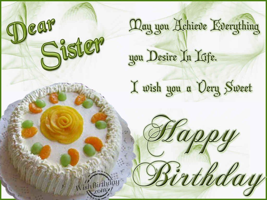 Birthday Greeting For Sister Birthday Image Gallery Happy Birthday Dear Sister Birthday Greetings For Sister Birthday Wishes For Sister Ideas for happy birthday my dear sister