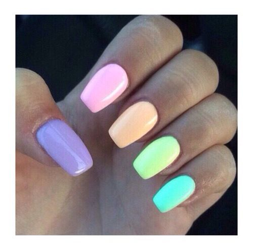 Lumo Pastel Nail Acrylics Esse Multicolored Nails Simple Nails Pretty Acrylic Nails