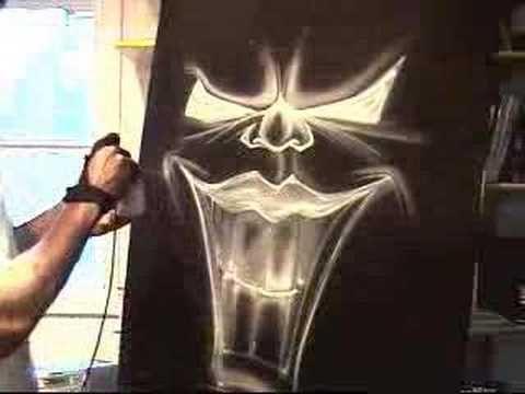 Airbrushing on Black
