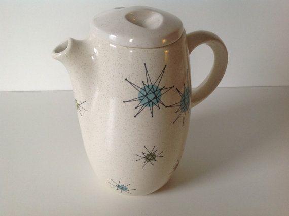 Franciscan Starburst Teapot | Teapot and Mid century