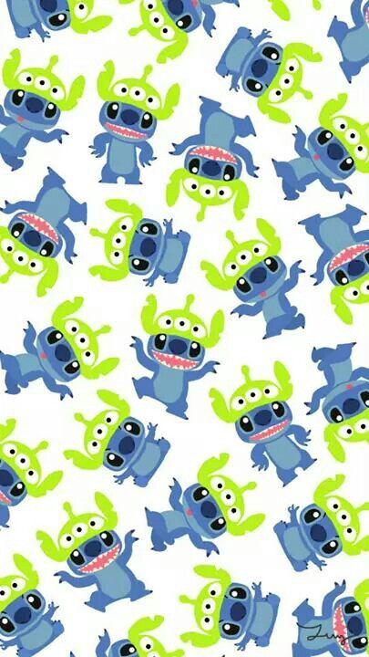 Stitch And Toy Story Aliens